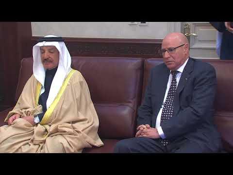 شاهد رئيس مجلس النواب المغربي يستقبل وزير الخارجية البحريني
