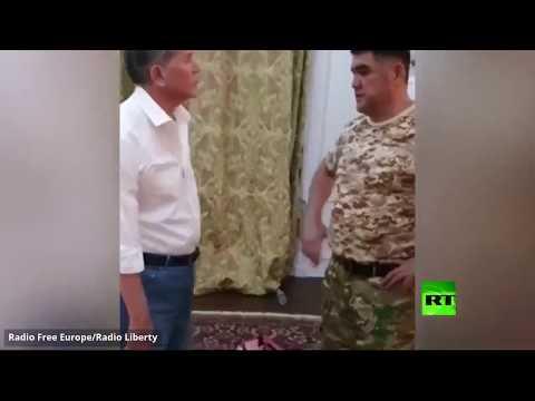 شاهد لحظة تسليم رئيس قرغيزستان السابق نفسه إلى السلطات