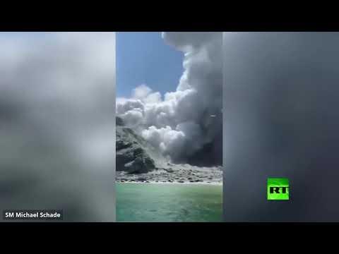 لحظة ثوران مفاجئ لبركان في نيوزيلندا يوقع 5 قتلى