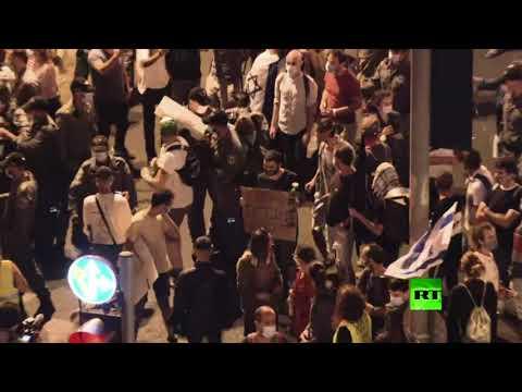 شاهد المئات يتظاهرون في القدس وفي مدن أخرى ضد نتنياهو