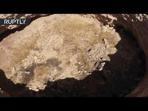 شاهد السلطات العراقية تعثر على حفرة عميقة قرب مدينة تلعفر