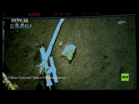 شاهد المسبار الصيني يبدأ في حفر صخور القمر لجمع عينات التربة