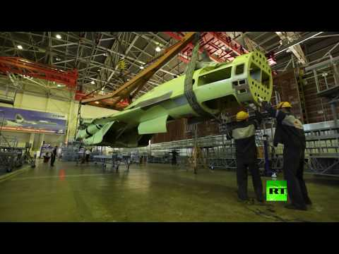 شاهد مراحل تصنيع مقاتلة سو35 الروسية بتقنية تايم لابس