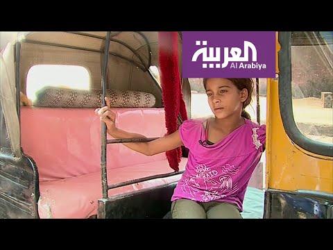 شاهد تعرف على أصغر سائقة توك توك في القاهرة