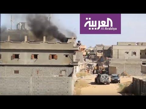 شاهد هجوم للجيش الليبي على مواقع تابعة لحكومة الوفاق في سرت