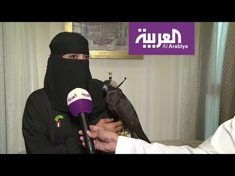 عذاري الخالدي أول صقّارة في السعودية تتحدى الرجال