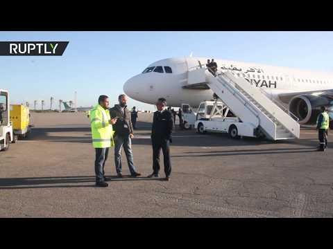 إعادة افتتاح مطار معيتيقة الدولي في العاصمة الليبية طرابلس