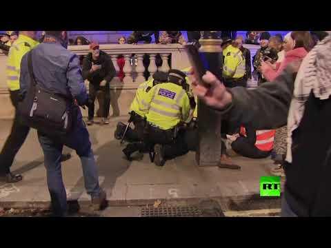 مظاهرات في لندن رفضًا لنتائج الانتخابات البرلمانية