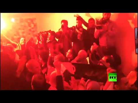 أنصار عبد المجيد تبون يحتفلون بفوزه في الانتخابات الرئاسية الجزائرية