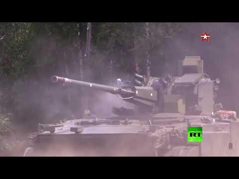 روسيا تختبر أحدث عرباتها القتالية ديريفاتسيا