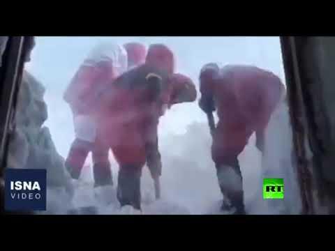 شاهد ارتفاع الثلوج يبلغ 3 أمتار في أردبيل شمالي إيران