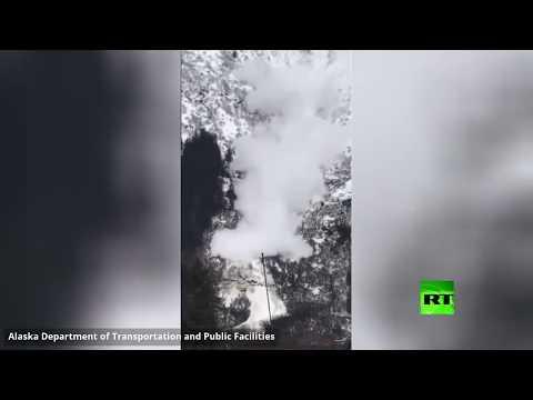 انهيار متعمد لجبال ثلجية في ألاسكا