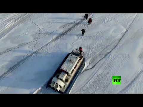 إجلاء 500 صياد عالقين على قطعة جليدية في أقصى الشرق الروسي