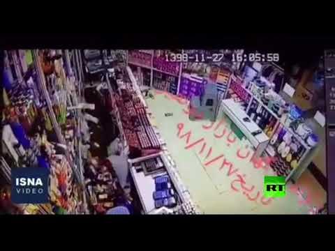 كاميرات تسجل لحظة زلزال قوي ضرب إيران
