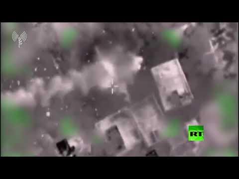 شاهد جيش الاحتلال ينشر فيديو يوثق استهداف مواقع الجهاد الإسلامي