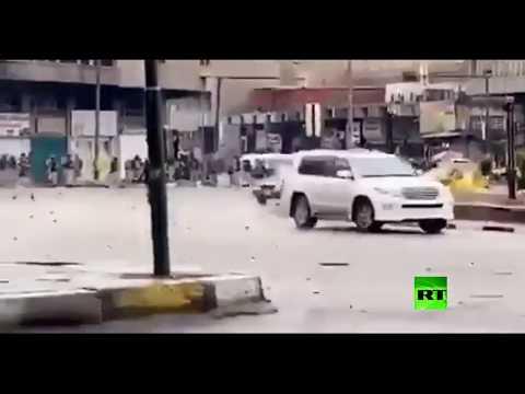 شاهد فيديو يوثق إطلاق الرصاص على متظاهرين في بغداد