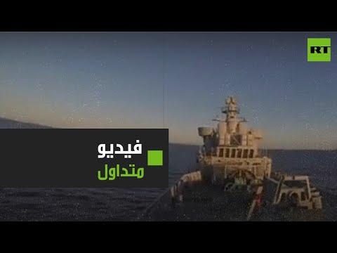شاهد لحظة إصابة السفية الإيرانية كونارك وطهران تنفي صحة الفيديو