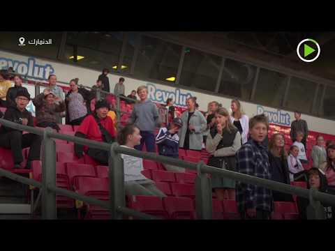 شاهد تحويل الملاعب الرياضية لمدارس للطلاب بسبب كورونا في الدنمارك