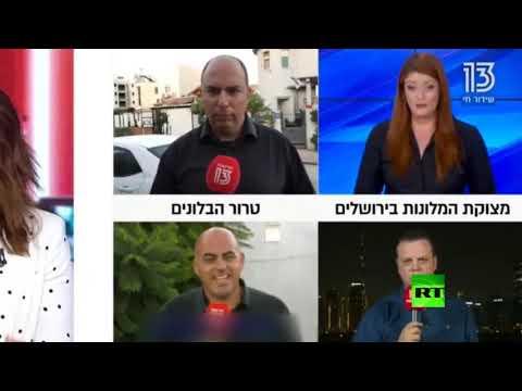 شاهد مراسل قناة إسرائيلية يسقط مغشيًا عليه خلال بث مباشر من دبي