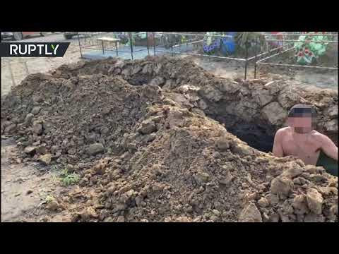 شاهد مسابقة لـحفر القبول في مدينة تومسك الروسية