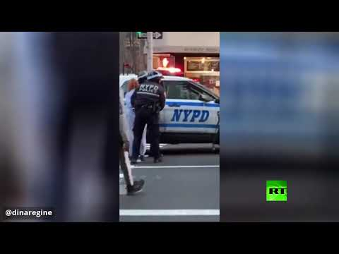 لحظة القبض على منفذة عملية الدهس في مدينة نيويورك