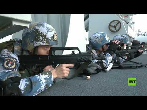 شاهد تدريبات البحرية الصينية في خليج عدن